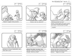 disney u0027s treasure planet storyboard with notes and i have pinned