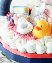 make a diy diaper cake basket for a mom to be modern mom life