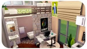 Loft Modern The Sims 4 House Build Starter Modern Loft Speed Build No Cc