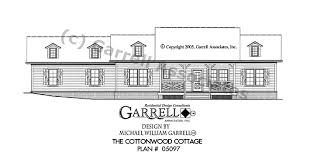 cottage house plans one story cottonwood cottage house plan house plans by garrell associates