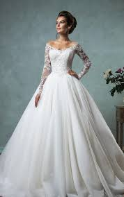 wedding dress with lace bridal dress with sleeves lace sleeve wedding gowns