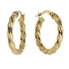 creole earrings 9ct gold diamond cut twist creole earrings 69 99 bullring