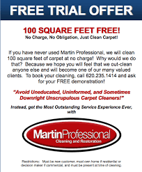 Martin Carpet Cleaning Specials Martin Professional