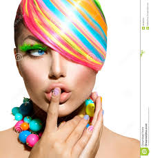 hair makeup colorful makeup hair and accessories stock images image 32449794