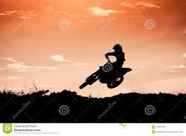 motocross action motocross action with sunset background stock photo image 46841790