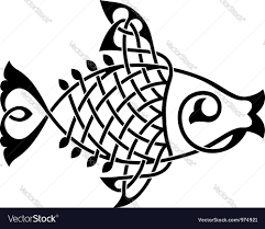 fish ornament royalty free vector image vectorstock