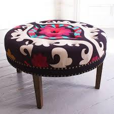 Fancy Ottomans Fancy Suzani Print Bath Button Footstool Chairs Stools