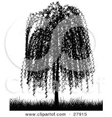 royalty free rf clipart illustration of a black and white bare