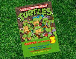 Create Your Own Invitation Card Ninja Turtle Party Invitations Kawaiitheo Com
