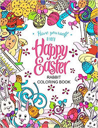 amazon easter rabbit coloring book designs adults teens