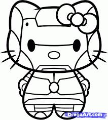 iron man kitty coloring sheet superhero superheroes hero