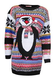 penguin novelty christmas jumpers like granny used to knit
