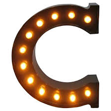 metal marquee letter small c threshold target