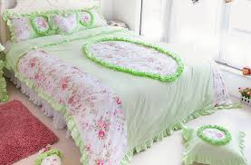 Cotton Bedding Sets Noble Princess Lace Quilt Twill Active Printing Cotton Bed Sheets