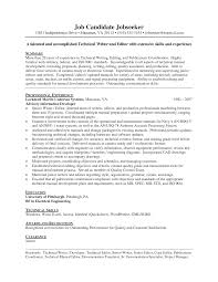 Resume Cv Examples by Federal Resume Format