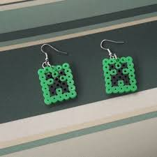 minecraft earrings shop perler bead earrings on wanelo
