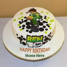 write ben 10 cartoon birthday wishes cake pics