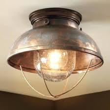 copper flush mount light light cabin ceiling light rustic flush mount nautical fishing lodge