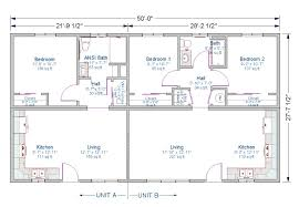 2 bedroom duplex floor plans