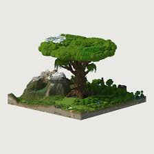 my first render giant tree chunky