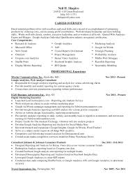 Entry Level Business Analyst Resume Examples by Neil Shapiro Resume Digital Marketing Google Analytics Expert