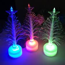 colorful led fiber optic light tree l children