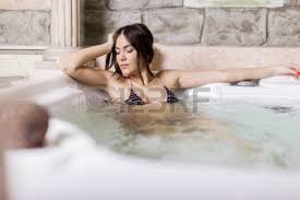 Women Bathtub Young Women Relaxing In The Tub Stock Photo Picture And