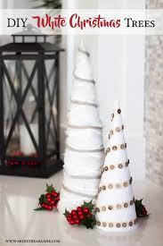 farmhouse style white christmas tree craft honeybear lane