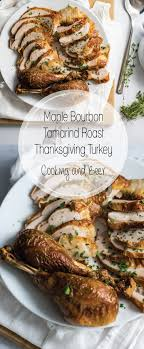 maple bourbon tamarind roast thanksgiving turkey cooking and