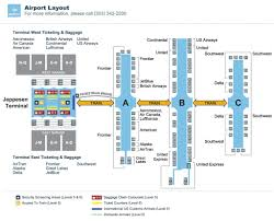 Chicago Ord Terminal Map by Denver Airport Den Maplets