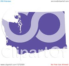 Map Of The State Of Washington by Clipart Of A Purple Silhouetted Map Shape Of The State Of