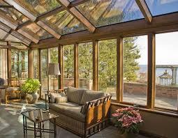 solarium sunroom wood interior cathedral roof sunroom