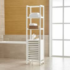 Bathroom Tower Shelves Banya White Bath Tower In Bathroom Furniture Reviews Crate And