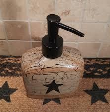 Burgundy Kitchen Canisters Primitive Crackle Tan U0026 Black Star Kitchen Canisters S U0026p Soap