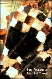 exclusive patchwork fur throw blanket quilt rug 5 x 6 mink