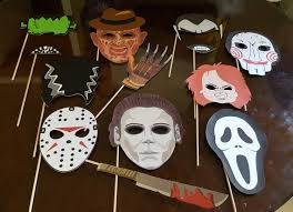halloween horror movies photo booth props
