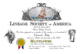 mayflower certificate