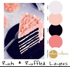 color combination with black paint palettes rich ruffled layers concepts and colorways