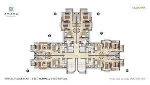 Floor Plan Com by Master Plan Floor Plan U0026 Unit Plan 1 2 U0026 3 Bhk Flats At Lodha
