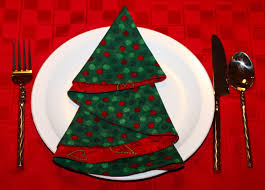 another christmas tree napkins made out of circle sewing stuff