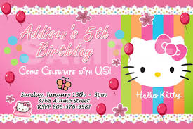 free personalized hello kitty birthday invitations drevio