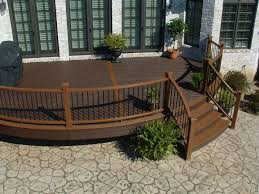 Composite Patio Table Exterior Design Wonderful Trex Decking Cost For Exterior Design