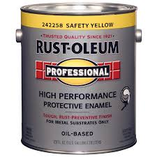 shop rust oleum professional safety yellow gloss gloss oil based