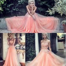 discount peach vintage bridesmaid dresses 2017 vintage lace