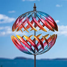 two way 18 wind spinner metal suncatcher ornaments whirligig lawn