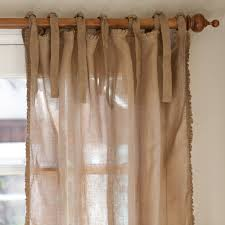 Beige Linen Curtains Linens Ruffle Tobacco Linen Curtain Panel From Elizabeth U0027s