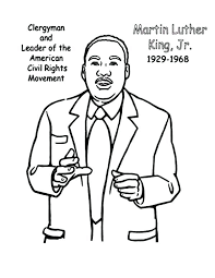 Martin Luther King Jr Coloring Pages Free Perfect Coloring Martin Mlk Coloring Pages