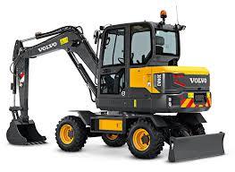 volvo na volvo ew60e compact wheeled excavator makes north american debut