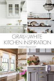 pics of kitchens with white cabinets and gray walls 20 gorgeous gray and white kitchens maison de pax