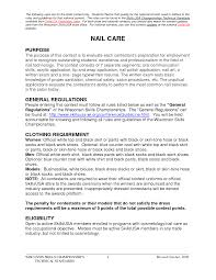 resume nail technician resume for your job application